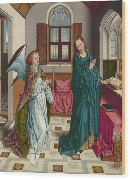 The Annunciation, 1480 Wood Print