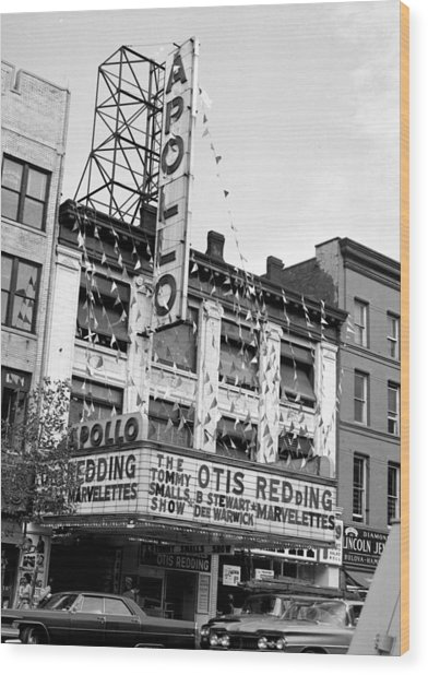 The Apollo Theater In Harlem. Otis Wood Print by New York Daily News Archive