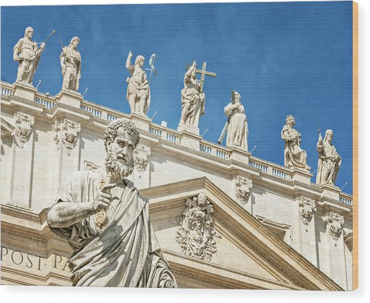 The Apostle Peter Vatican City Wood Print