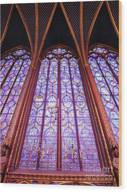 The Awe Of Sainte Chappelle Wood Print