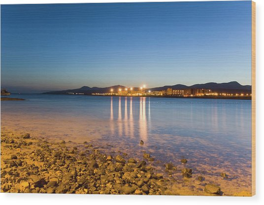 The Beach Of Playa De El Castillo Wood Print by Maremagnum