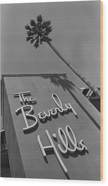 The Beverly Hills Hotel Wood Print by George Rose