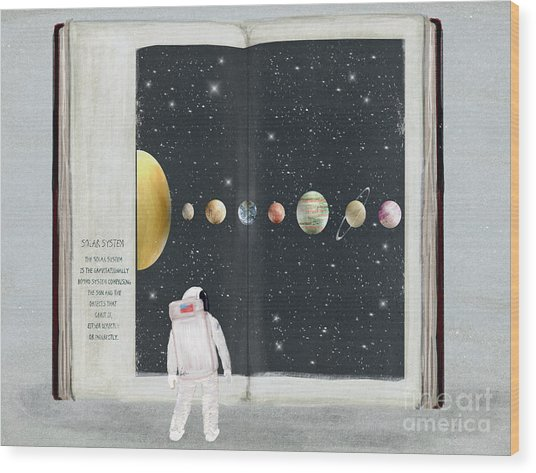 The Big Book Of Stars Wood Print by Bri Buckley