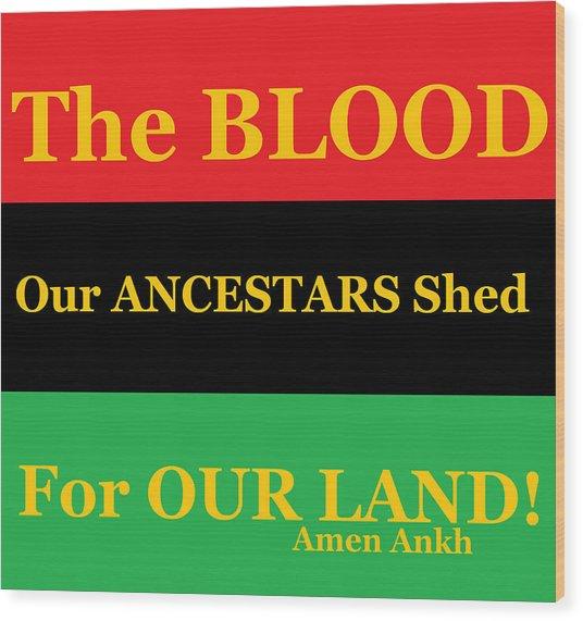 The Blood Wood Print