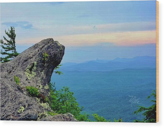 The Blowing Rock Wood Print