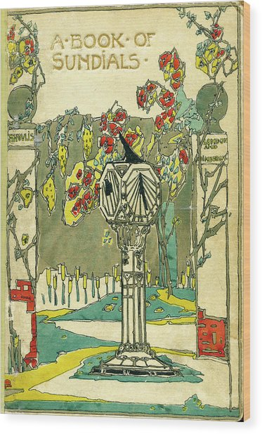 Cover Design For The Book Of Old Sundials Wood Print