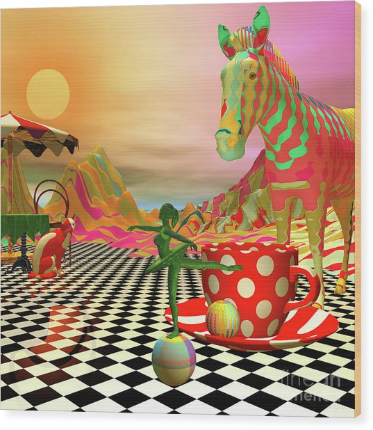 The Candy Store Wood Print