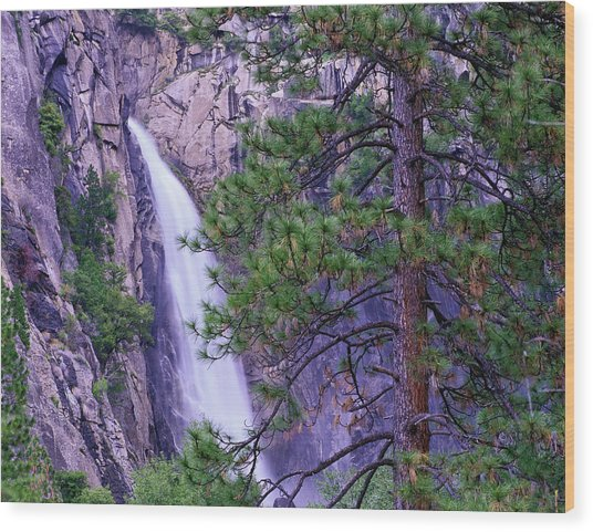 The Cascades From Yosemite National Wood Print by Tim Fitzharris/ Minden Pictures