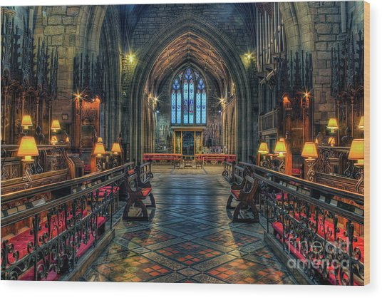 The Cathedral Church Of Saints Asaph And Cyndeym Wood Print