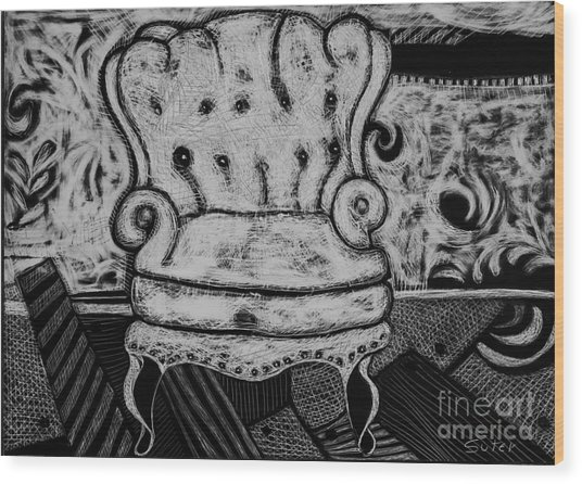 The Chair. Wood Print