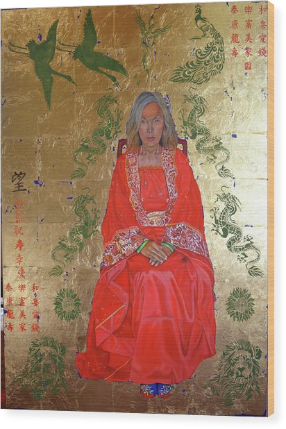 The Chinese Empress Wood Print