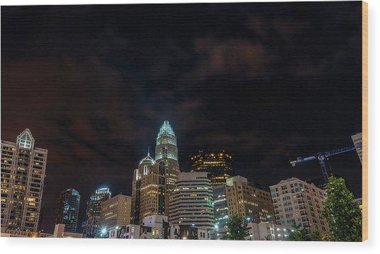 The City Lights Up Wood Print