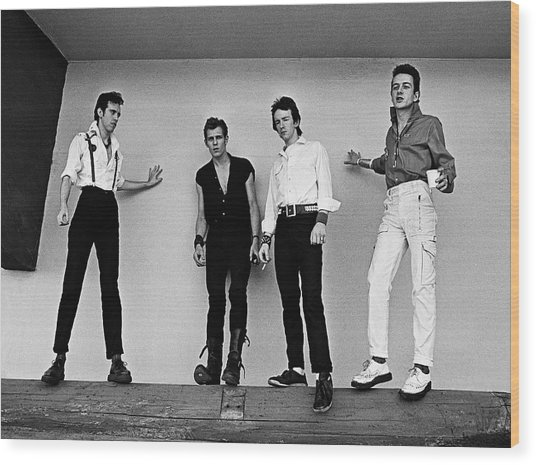 The Clash Portrait Session Wood Print by George Rose