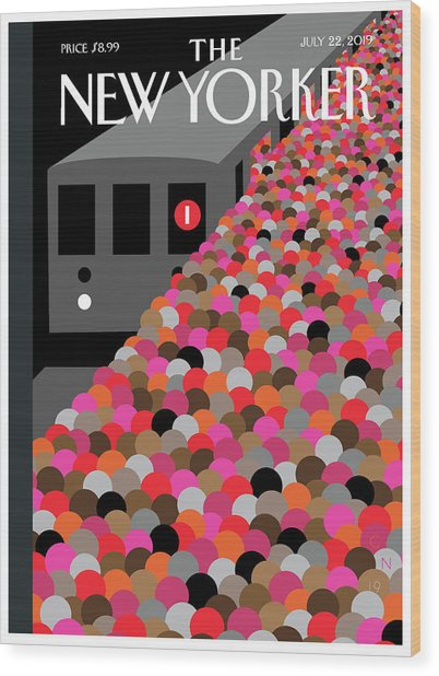 The Commute Wood Print