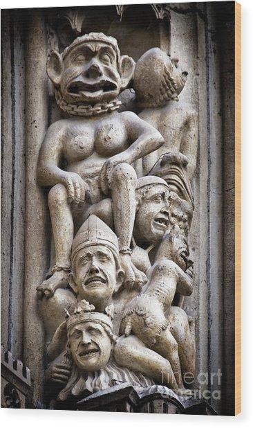The Damned In Notre Dame De Paris Wood Print