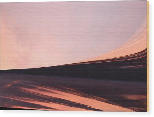 Wood Print featuring the digital art The Desert Sand Sunsetting by Roy Erickson