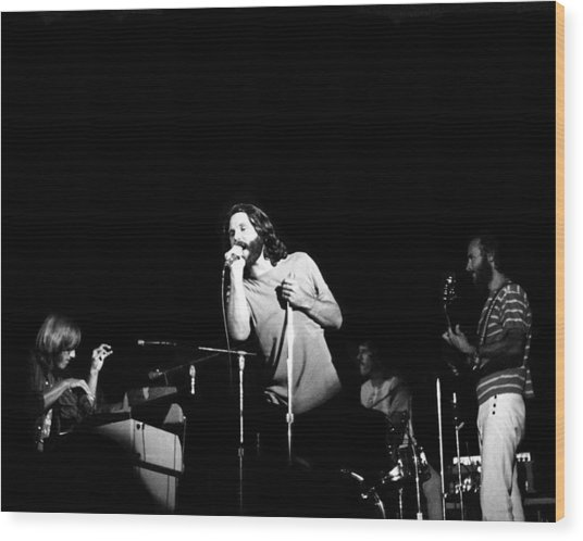 The Doors Live Wood Print by Larry Hulst