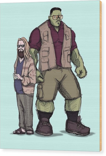The Dude Of Thunder Wood Print