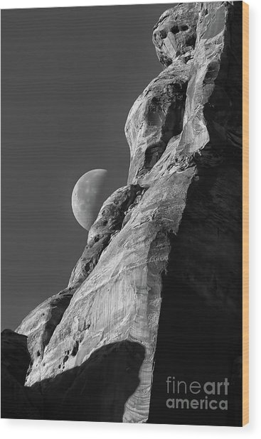 The Edge Of Night Wood Print