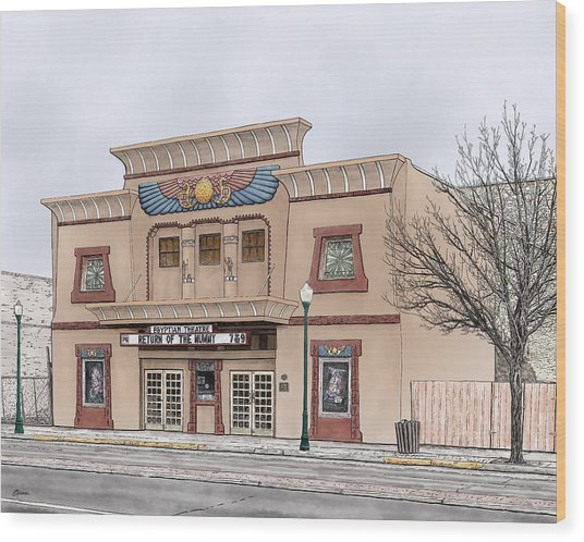 The Egyptian Theatre Wood Print