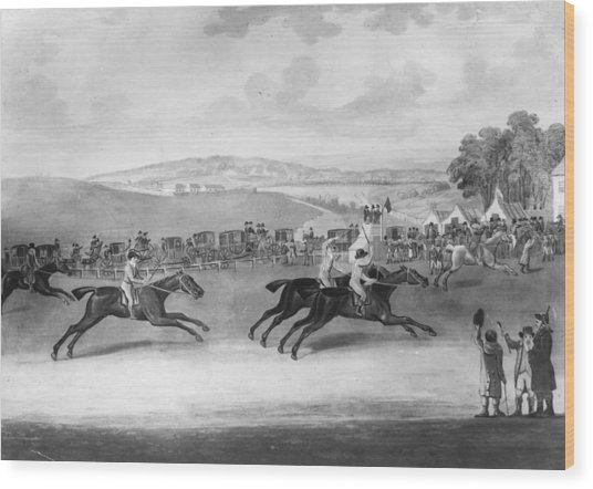 The Epsom Derby Wood Print by Rischgitz
