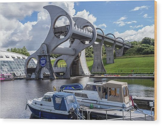 The Falkirk Wheel Wood Print