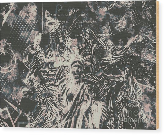 The Fall Of False Idols Wood Print