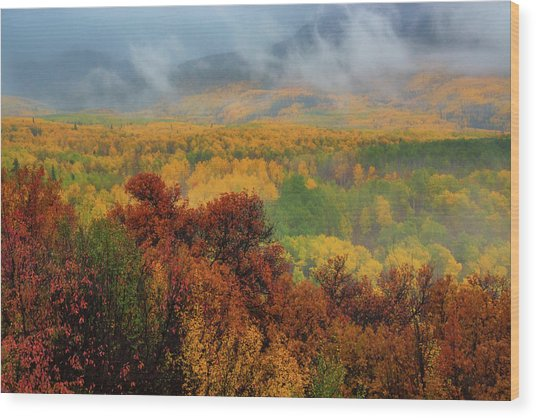 Wood Print featuring the photograph The Feeling Of Fall by John De Bord