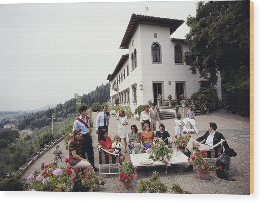 The Ferragamo Family Wood Print by Slim Aarons
