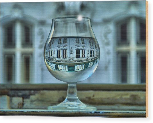 The Glass - Living Upside Down Wood Print