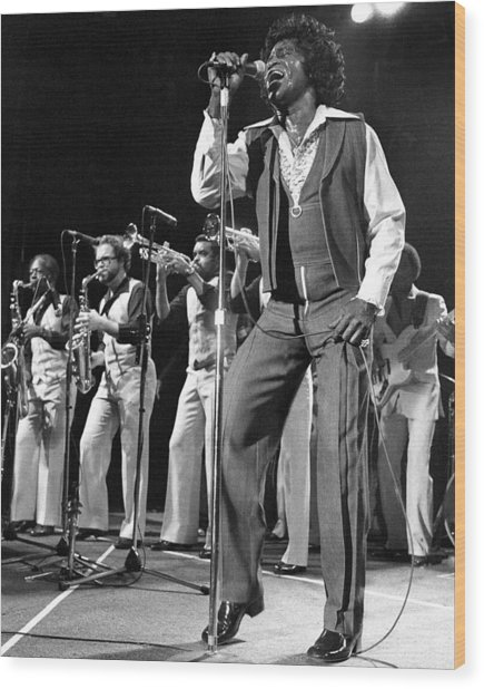 The Godfather Of Soul James Brown Wood Print by New York Daily News Archive