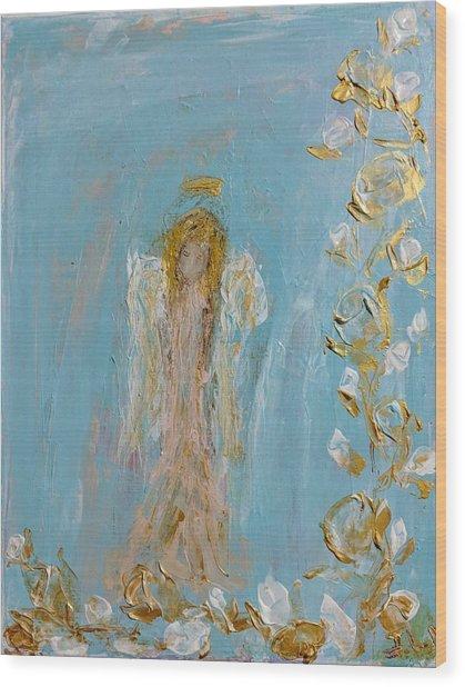 The Golden Child Angel Wood Print