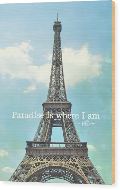The Grande Dame Quote Wood Print by JAMART Photography