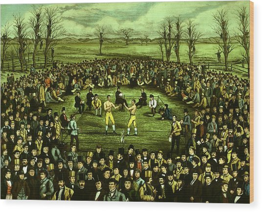 The Great Contest Wood Print by Hulton Archive