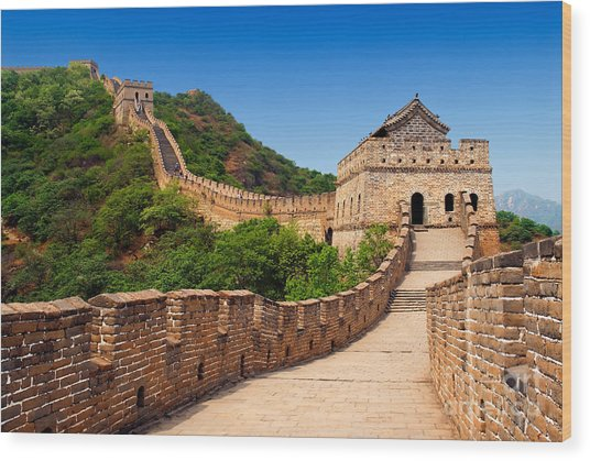 The Great Wall Of China Wood Print by Izmael