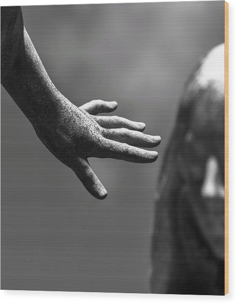 Wood Print featuring the photograph The Hand by Rand