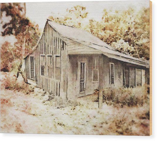 The Home Place Wood Print