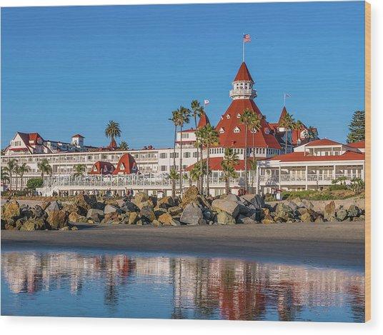 The Hotel Del Coronado San Diego Wood Print