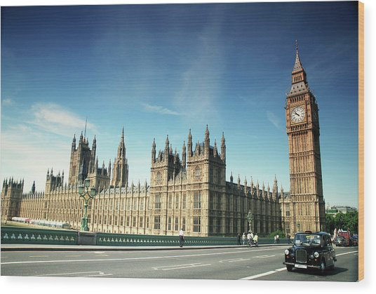 The Houses Of Parliament & Big Ben Wood Print by Cezary Zarebski Photogrpahy