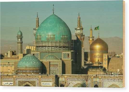 The Imam Reza Shrine In Masshad, Iran Wood Print
