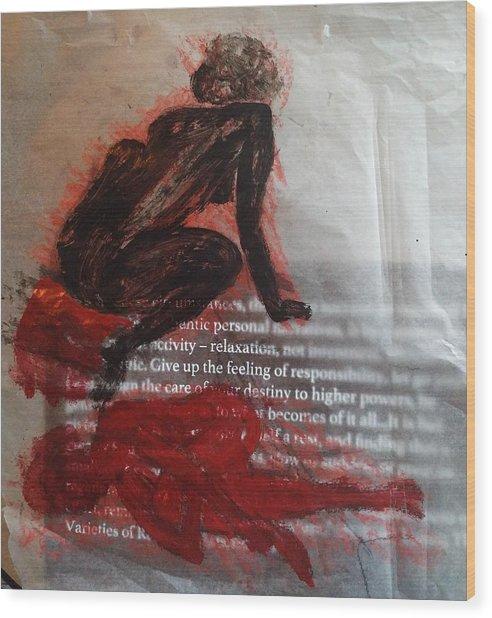 The Immolation Wood Print