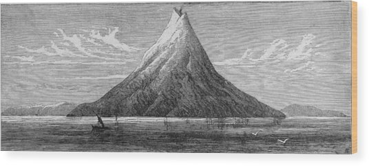 The Island Of Krakatoa Wood Print by Kean Collection