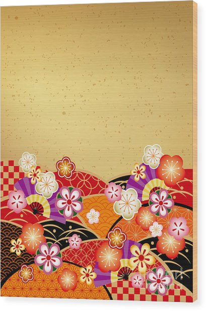 The Japanese Style Background Of The Wood Print