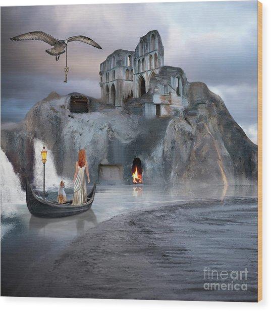 The Journey To Atlantis Wood Print