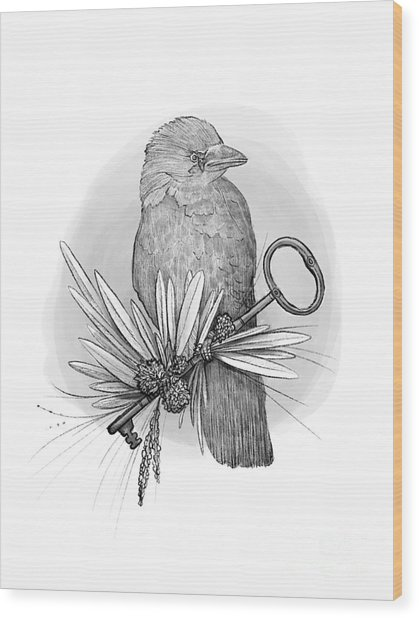 The Keeper Of The Key Wood Print