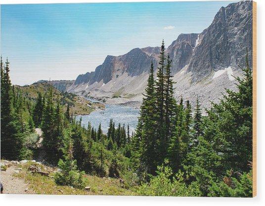 The Lakes Of Medicine Bow Peak Wood Print