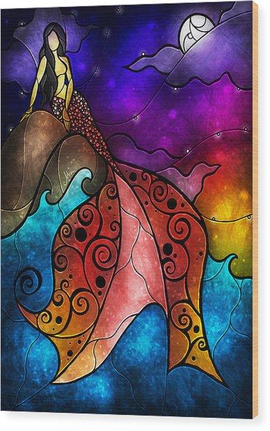 The Little Mermaid Wood Print