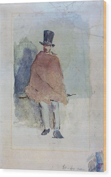 The Man In The Tall Hat - Digital Remastered Edition Wood Print