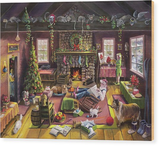 The Micey Christmas Heisty Wood Print