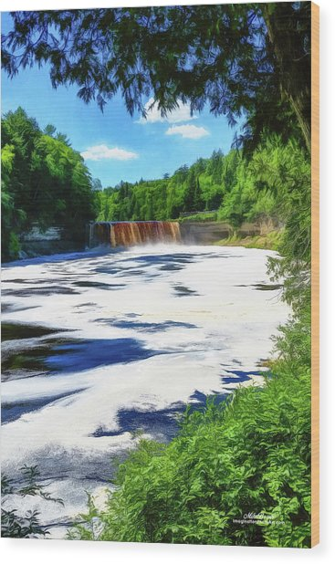 The Mighty Tahquamenon Wood Print